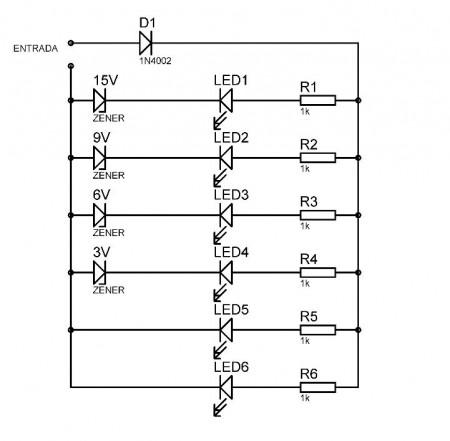 ESQUEMA VU LEDS1 450x441 LEDs sincronizados com áudio (com vídeo de demonstração)(atualizado 23/01) led Iluminação Dicas Desenho de esquemas Desenho circuito impresso Circuitos Áudio Amplificadores amplificador de audio