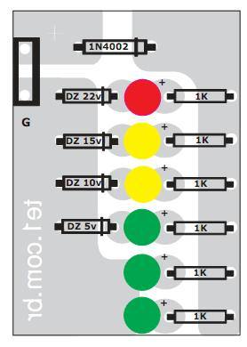 VUcomleds layout LEDs sincronizados com áudio (com vídeo de demonstração) led Iluminação Dicas Desenho de esquemas Desenho circuito impresso Circuitos Áudio