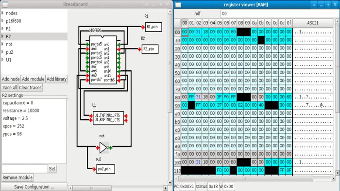 Gpsim simulador para PIC 700x394 Download Gpsim simulador completo para PIC   Grátis Software de eletrônica Simulador Pic Microcontroladores microchip linux Download