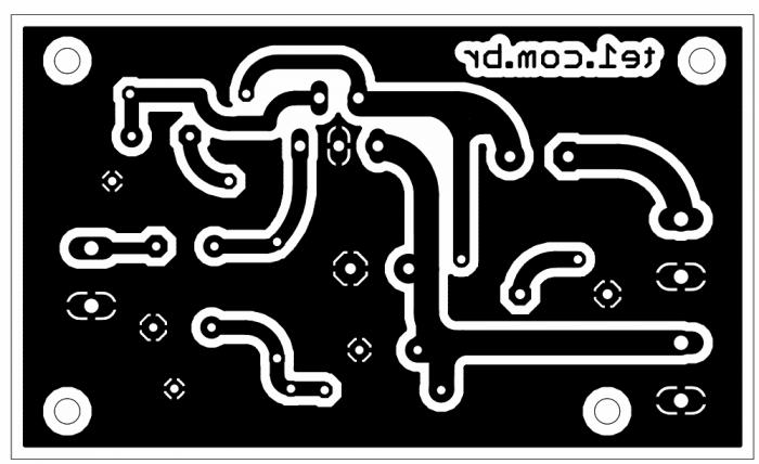 amplficador potencia tda2040 pcb 700x428 Circuito de amplificador com CI TDA 2040 20 Watts tda Circuitos Áudio
