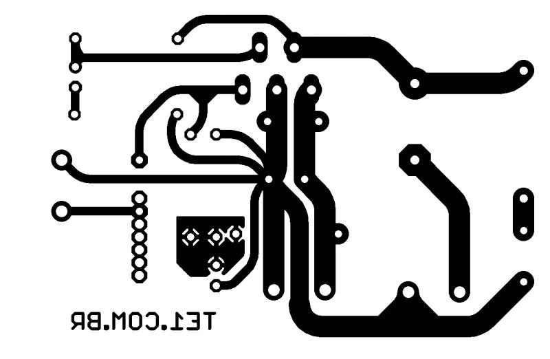 Tda2040 circuito de amplificador potência 20 w placa de circuito impresso pcb