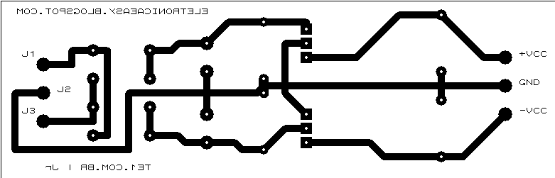 fonte simetrica 12 pcb Fonte simétrica 12v regulada por integrado 7812 7912 Fontes Dicas Desenho de esquemas Circuitos
