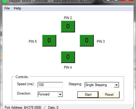 Download Stepper Motor Controller - Programa controlar motores de passo pelo computador por electronics-diy