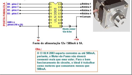 programa motor de passo circuito Download software de controle de motor de passo pela porta paralela LptMotor by rogercom Windows Software de eletrônica Download Circuitos