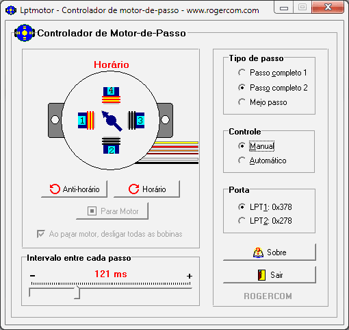 DOWNLOAD DO SOFTWARE DE CONTROLO DO MOTOR