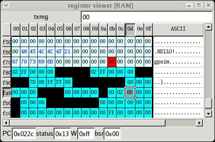 registerview Download Gpsim simulador completo para PIC   Grátis Software de eletrônica Simulador Pic Microcontroladores microchip linux Download