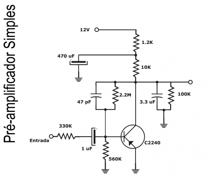 pre ampliifcador simples transistor 700x595 Pré amplificador Simples (COMPLETO COM SUGESTÃO PCB PARA ESTÉREO) Pré amplificadores placa de circuito impresso Circuitos Áudio