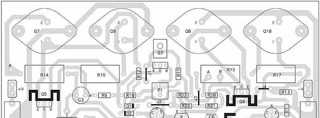 Módulo de potência Profissional 90 a 130 watts RMS em 8 ohms por canal