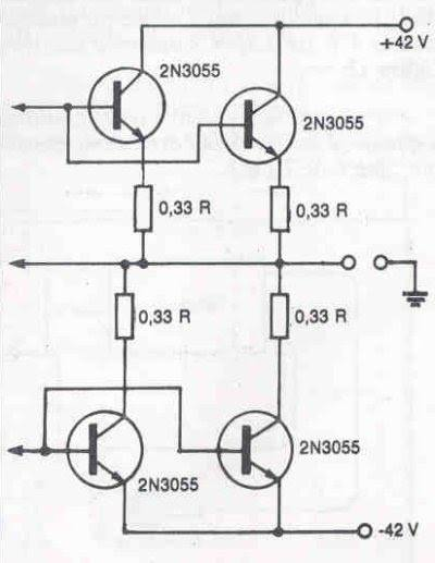 Módulo de potência Profissional 90 a 130 watts 4 Módulo de potência Profissional 90 a 130 watts RMS em 8 ohms por canal Circuitos Áudio