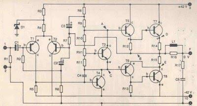 Módulo de potência profissional 130w com 2n3055