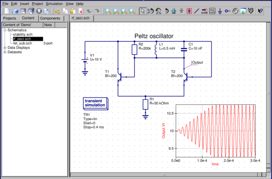 Download Qucs simulador de circuitos para Linux