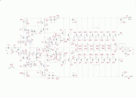 Schematic Power Amplifier 660w Listado 450x326 Amplificador de 660 ~ 700 Watts RMS 4 Ohms mono Áudio Amplificadores Amplificador potência amplificador de audio amplificador