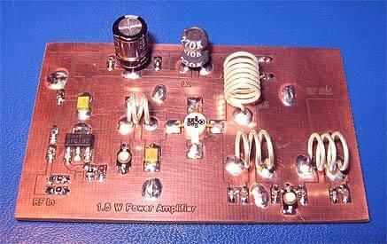 Circuito de transmissor de FM PLL – Parte 2 – Amplificador de potência de RF classe C de 1,5 Watts