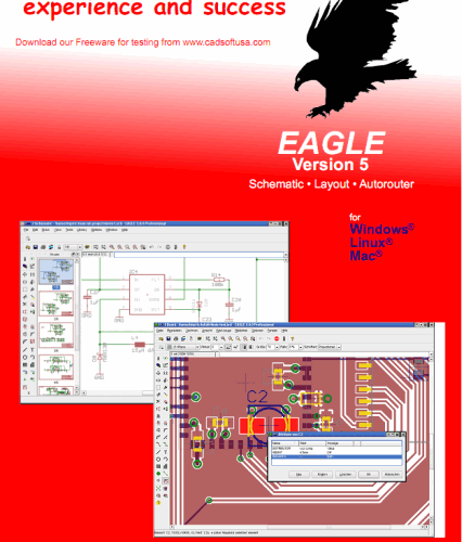 Download cadsoft eagle 5.11 programa para captura de esquemas PCB design, including Schematic Capture, Board Layout, and Autorouter