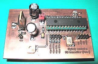 transmissor fm pll pic1f6870 placa montada Circuito de transmissor de fm PLL   Parte 1   Unidade de controle principal Transmissores Fm Transmissores e RF Transmissores Pic Microcontroladores microchip Circuitos Áudio