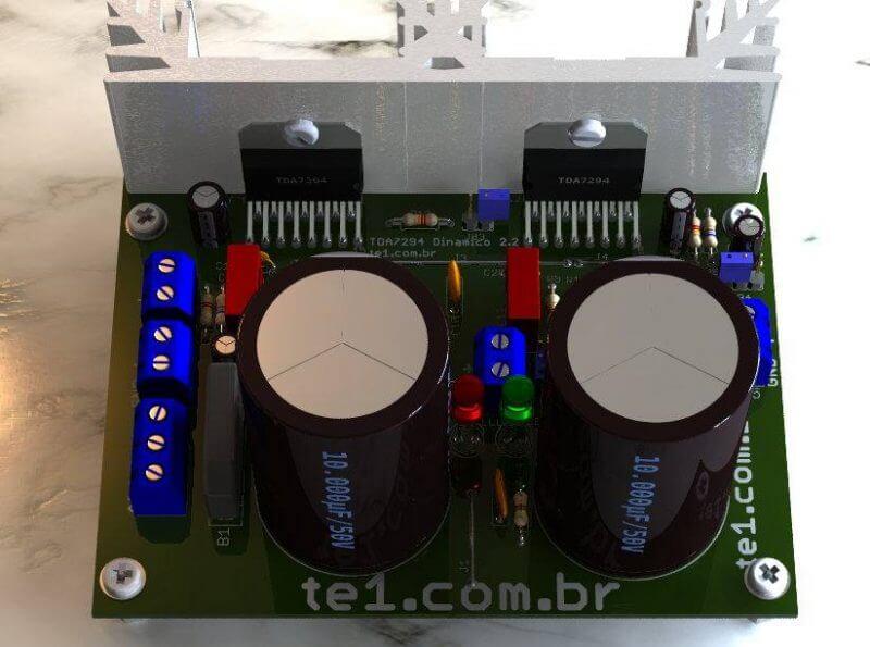 Tda7294 amplificador de potência estéreo