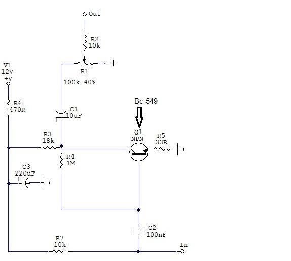amplificador fone deouvido placa Pré Amplificador Para Fone de ouvido com transistor