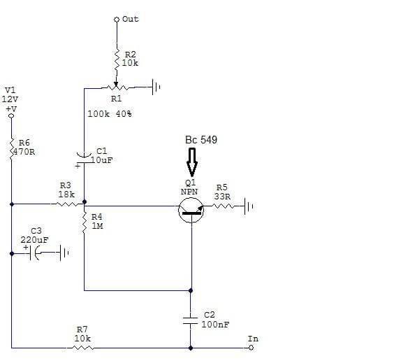 Amplificador-Fone-Deouvido-Placa Pré-Amplificador Para Fone De Ouvido