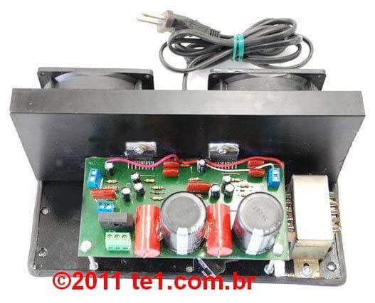 Circuito de amplificador de áudio de potência dinâmico com ci tda7294 em ponte (bridge) 180W ou estéreo 2 x 80 Watts