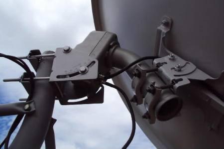 antena parabolica rastreavel motor Tv digital via satélite FTA usando sua parabólica banda C normal ou antena banda KU   Como fazer?