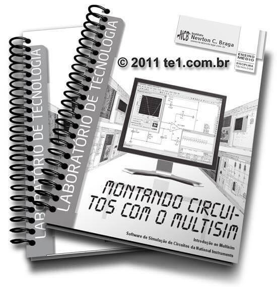Download apostila em PDF - Utilizando o Multisim - Multivibradores astáveis - O ci 555 - Montando circuitos com o MultiSIM - do Autor Newton C. Braga