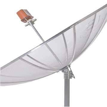 Antena parabólica para banda C telada