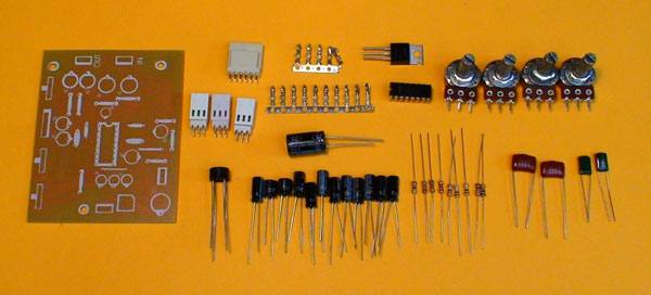 ta01 Pré amplificador estéreo com controle de volume, balanço e tons (grave e agudo) Pré amplificadores placa de circuito impresso Circuitos Áudio