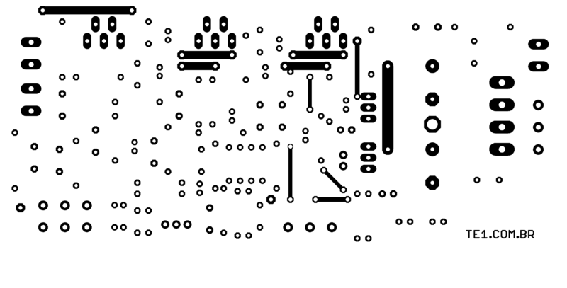 Placa pcb pra montar amplificador tda2030a lm1875t