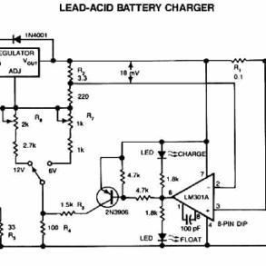 Vários Circuitos de carregadores de baterias