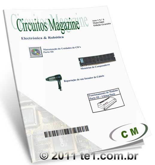 Download revista de eletrônica e robótica em PDF gratuita Circuito Magazine volume 5 -