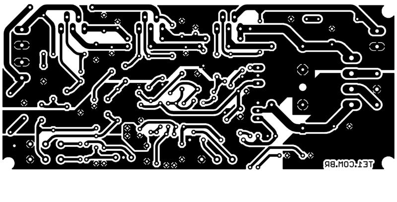 Sugestão de placa de circuito para montar amplificador tda2030 2. 1 ou tda2050 2. 1 pcb