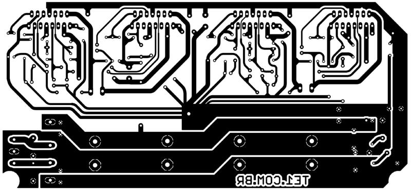 Tda7294_Ponte_Pci_Amplificador Sugestão De Placa De Circuito Impresso Para Montagem Do Brutus - Amplificador Estéreo Em Ponte De 2 X 170 Watts (+ De 300 Watts Total)