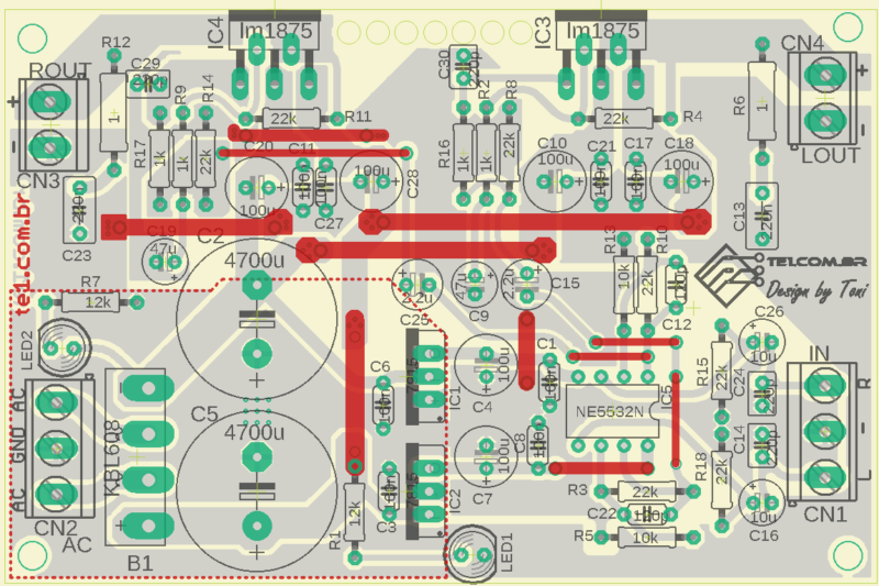 Amplificador Potencia Audio Op Amp Lm1875 Amplificador Lm1875 Amplificador De Potência Estéreo Com Pré Lm1875T