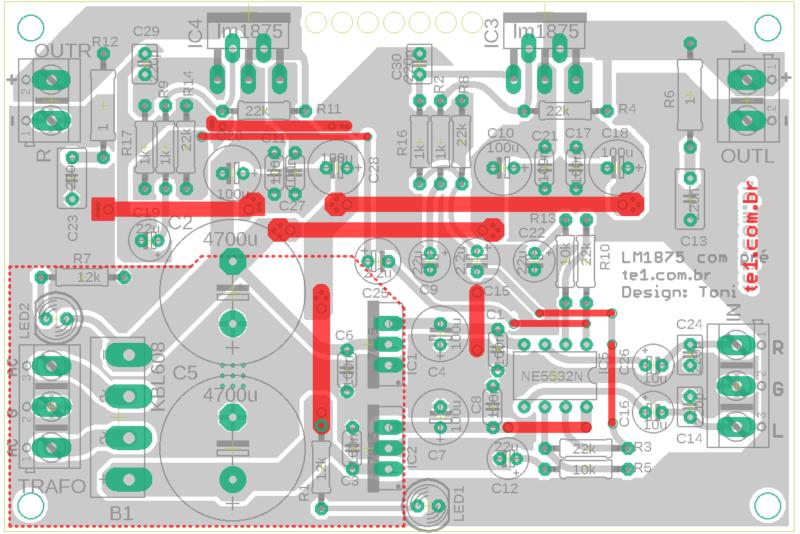 Amplificador potencia audio op amp lm1875 amplificador, amplificador de áudio, amplificador de potência, áudio, circuitos, lm, lm1875, lm1875t, potência, pre amplificador som ambiente, pré-amplificadores lm1875 amplificador de potência estéreo com pré lm1875t
