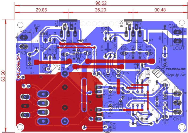 Lm1875 Amplificador Estereo Comp 1 Lm1875 Amplificador Lm1875 Amplificador De Potência Estéreo Com Pré Lm1875T