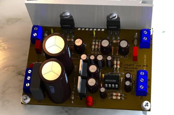 Lm1875 ne3352 amplificador audio estereo 2 lm1875 lm1875t lm1875 amplificador de potência estéreo com pré lm1875t