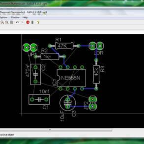 Tutorial Desenho de PCB com programa cad Eagle Parte 3 : Layout desenho da placa