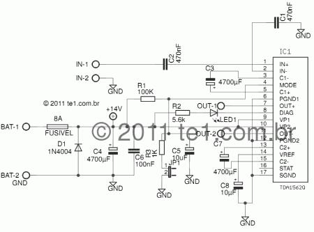 tda1562 amplificador audio 70 watts 450x333 Circuito de amplificador automotivo com CI TDA1562   70 Watts tda Circuitos Automotivo Áudio