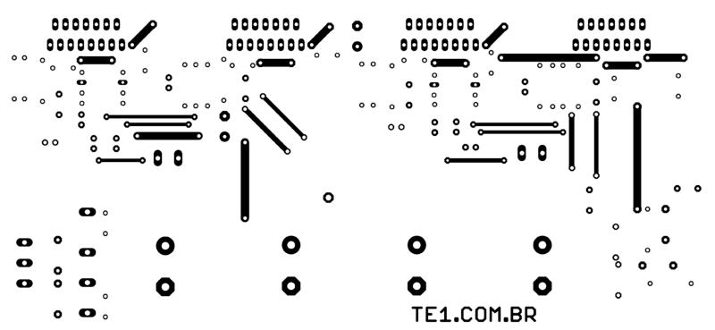 Top Layer Tda7294 Amplificador Amplificador Brutus - Tda7294 Amplificador De Potência Estéreo Em Ponte (Bridge)