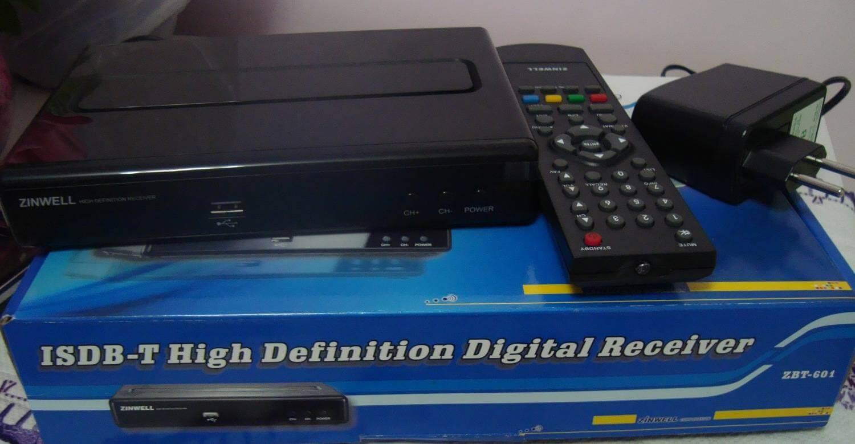 Review do Kit completo para tv digital da loja GrandeEletro - Conversor Zinwell ZBT-601