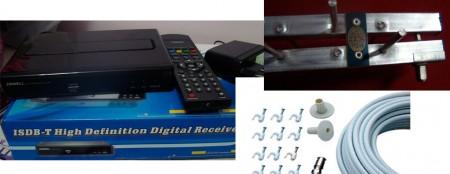 kit conversor zbt 601 antena tv digital cabo rg6 450x174 Review do Kit completo para TV digital da loja GrandeEletro   Conversor Zinwell  ZBT 601 + Antena UHF Proeletronic PQ45 1040 + Kit cabo Cabletech tv digital Dicas Antenas