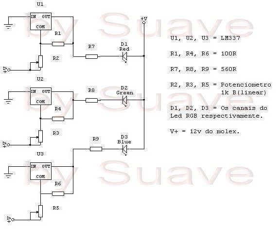 Controlador-Led-Rgb Controlador-Led-Rgb-Esquema Circuitos De Controlador Para Led Rgb