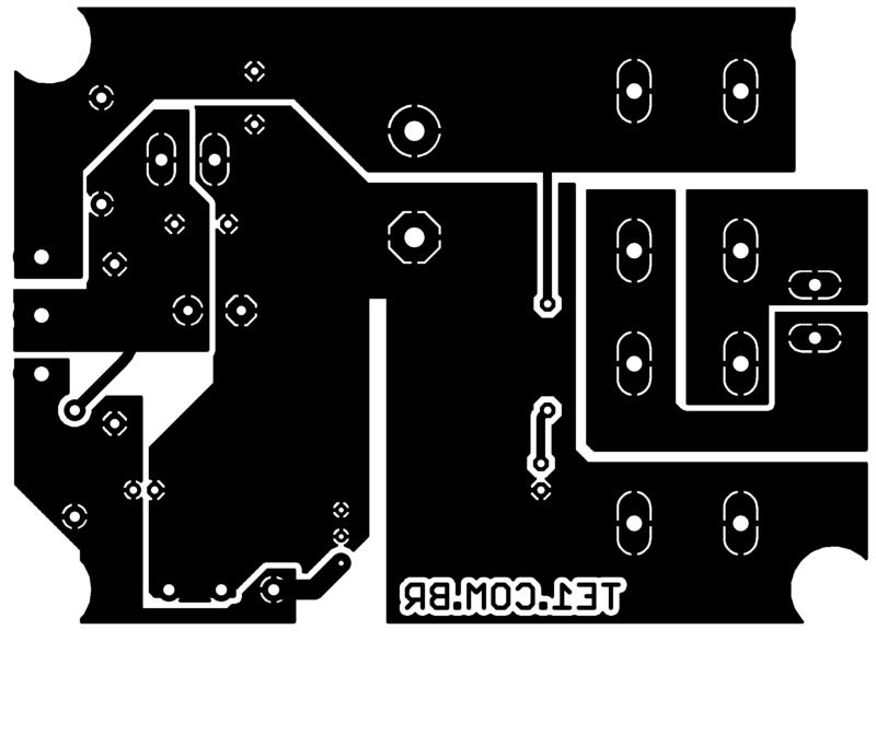 Sugestão de placa de circuito impresso para montagem da fonte ajustável com lt1083