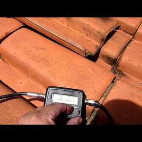 Como apontar antena com Inclinômetro e satélite Finder