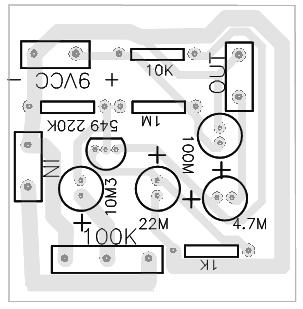 prea amplificador audio bc549 Circuito de pré amplificador de áudio com transistor BC549 Pré amplificadores Circuitos Áudio