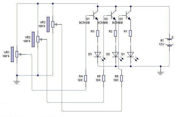 Esquema Dimmer Led Rgb 3 Watts
