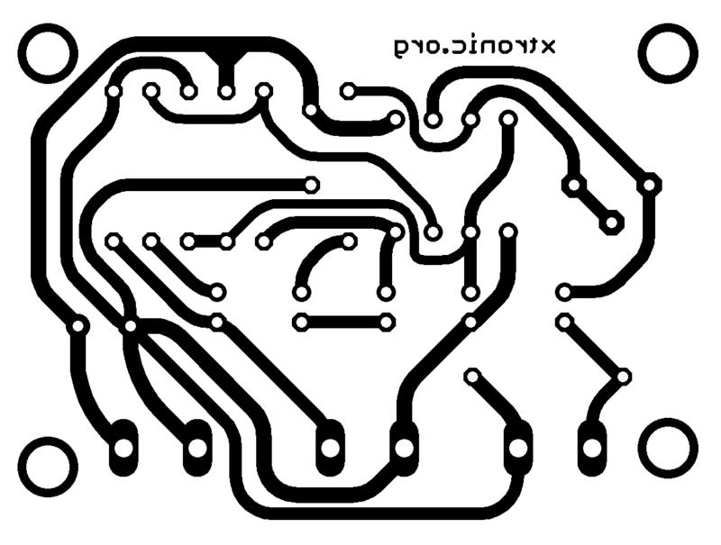 Sugestão de placa de circuito impresso pra montagem do pré-amplificador