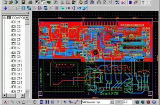 Download ZenitPCB suite software cad para criação de esquemas e layout de circuito impresso