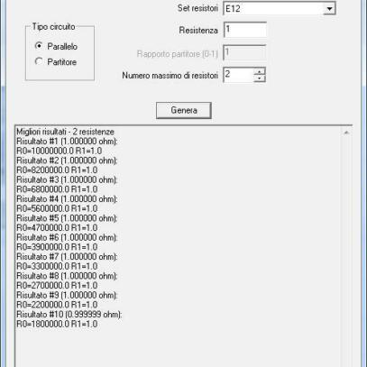 Download calculadora de resistor equivalente para valores não comerciais