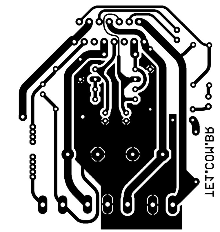 Placa De Circuito Impresso Esquema Circuito Com Tda7293 Amplificador Potência 100W